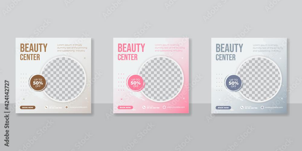 Fototapeta Beauty and spa promotion social media post