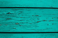 Turquoise Wood Texture Background From Old Wooden Planks