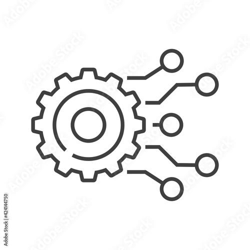 Slika na platnu Tecnología electrónica