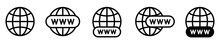 Website Icon Set. Www Icons Collection. Internet Icon. Www Search Bar Icon. Www Icons With Hand Cursor. Go To Web Icon Symbol.