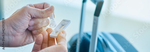 has covid-19 rapid test at the airport, web banner