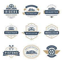Car Logos Templates Vector Design Elements Set