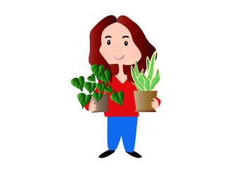 dziewczyna, kobieta, kwiaty, pasja, ogrodniczka, ogród, sadek, dom, kwiaty, pasja, miłość, radość, opieka