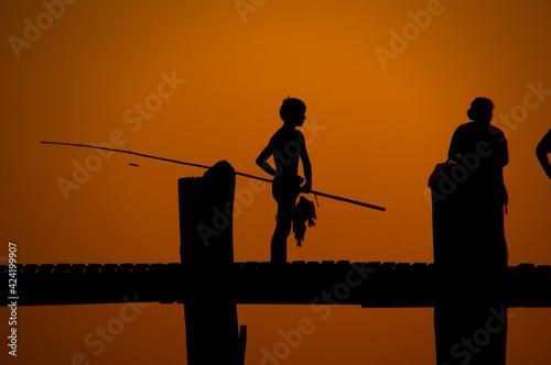 Fototapeta U-Bein Bridge Amarapura Mandalay Myanmar obraz