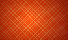 Orange Red Abstract Geometric Rumpled Triangular Low Poly Style Illustration Graphic Background.