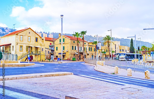The German Colony in Haifa, Israel Fototapet