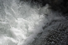 White Water Splashing Off The Rocks In Big Pine Creek, In The Eastern Sierra Nevada Mountains, Inyo County, California.