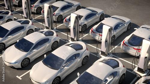 Fotografía Parking electric cars