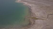 Ein Gedi Dead Sea 4k Aerial View Ungraded Flat