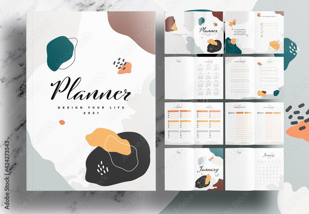 Fototapeta Annual Planner Notebook Layout