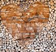 ścianka z drewna, drewno,  drewno w ogrodzie, pinewood,