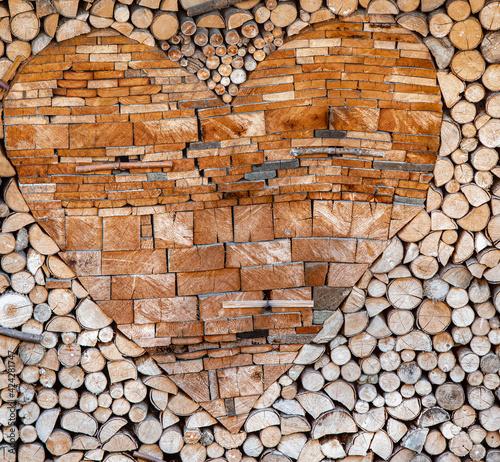Obraz ścianka z drewna, drewno,  drewno w ogrodzie, pinewood,  - fototapety do salonu