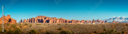 Foto Panoramic view over the Arches National Park in Utah, USA