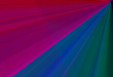 Hot Pink And Black And Dark Blue And Green Linear Gradient