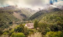 Aerial View Of A Cottage, Santana, Madeira Island, Portugal.