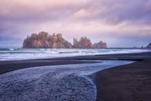 Leading Lines Sunrise At La Push James Island Washington Coast Pacific Ocean