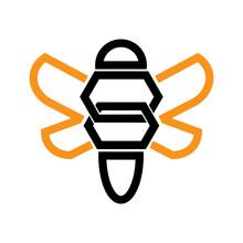 Modern Bee Logo