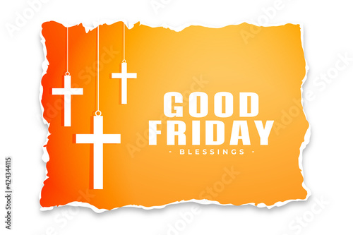 good friday background in torn paper style Fototapet