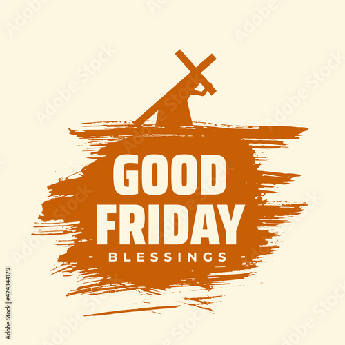 Tablou Canvas good friday blessings background with jesus carrying cross