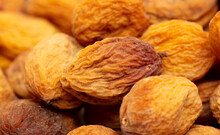 Dried Apricots As An Abstract Background.