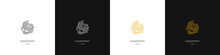 Fingerprint Logos Set. Identity, Authorization Or Privacy Concept. Vector Illustration In Modern Style