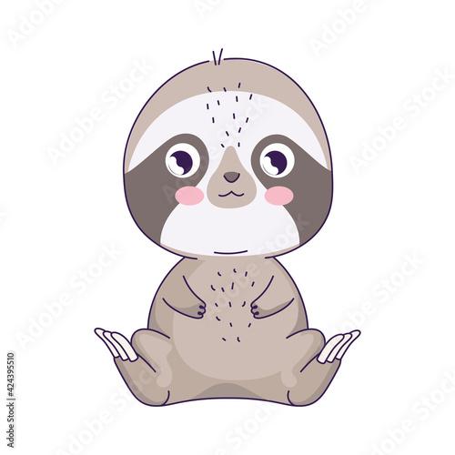 Fototapeta premium cute sloth animal