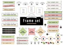 Title Design Frame Set