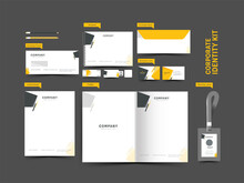Corporate Identity Kit Including Folder, Letterhead, Double-Side Envelope, Id, Business Card, Notepad, Pen Drive And Stationery Items.