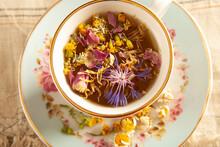 Herbal Tea Made From Various Flowers