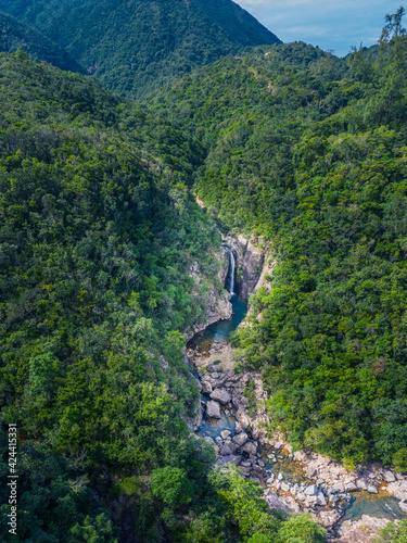 waterfall and river in forest, Sai Kung, Hong Kong