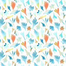 Floral Seamless Pattern. Illustration For Fabric Und Textile Design, Wallpaper, Wrapping, Surface Design, Decoration.