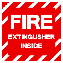 Fire Extinguisher Inside Symbol Sign, Vector Illustration, Isolate On White Background Label. EPS10