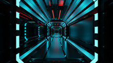 Sci-fi Background Corridor Room Smart Future