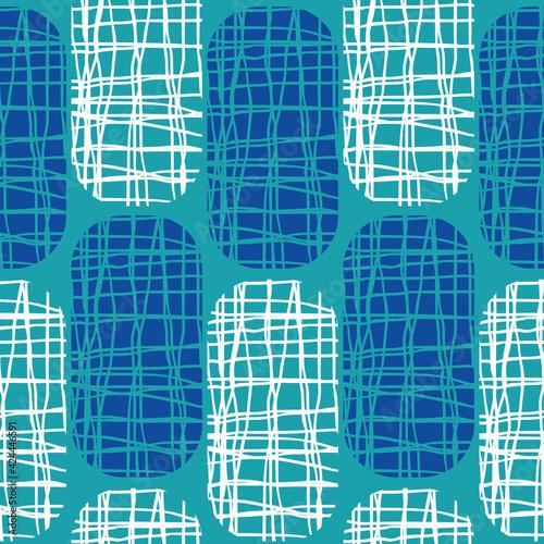 Photo Irregular weave effect vector rectangles seamless pattern background
