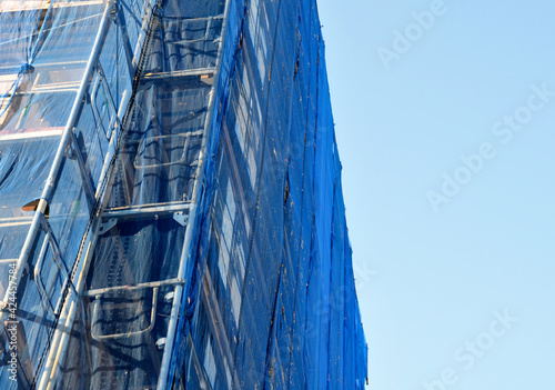 repair of the facade of the house Fototapet
