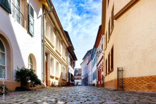 Fototapeta Cityscape of the idyllic Bad Dürkheim , Pfalz, Germany obraz