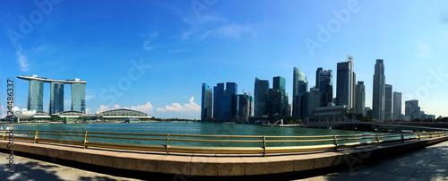 panorama of Marina Bay boulevard in Singapore Fototapet
