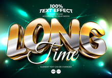 Long Time Editable Text Effect