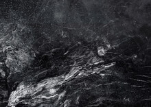 Textured Marble, Ice Surface. Cool, Dark, Distressed Grunge Background.