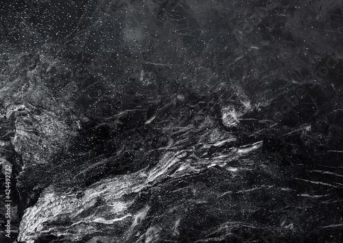 Fototapeta Textured marble, ice surface. Cool, dark, distressed grunge background. obraz