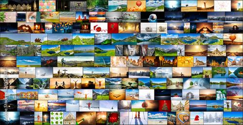 Collage aus veschiedenen Fotos Wallpaper Mural