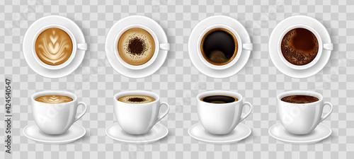 Fotografie, Obraz Realistic coffee cups