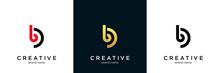 Initial Lowercase Letter Logo Cb, Bc, B Inside C, Monogram Rounded Shape
