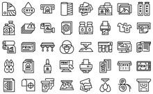 Digital Printing Icons Set. Outline Set Of Digital Printing Vector Icons For Web Design Isolated On White Background