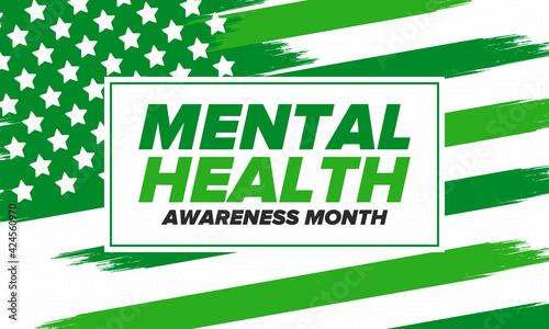 Fotografie, Tablou Mental Health Awareness Month in May
