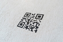 Qr Code Printed On The Wall Surface, Scan For Payment