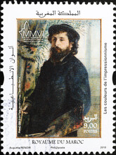 Portrait Of Monet By Auguste Renoir On Postage Stamp