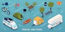 Isometric Trailer Park Infographic