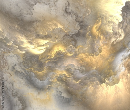 Fototapeta clouds over the sea obraz