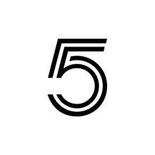 5 Logo Design Vector Sign